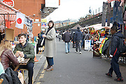 Street food vendors on Brixton Station Road in Brixton, London.<br /> CREDIT: Vanessa Berberian for The Wall Street Journal<br /> HIPLONDON