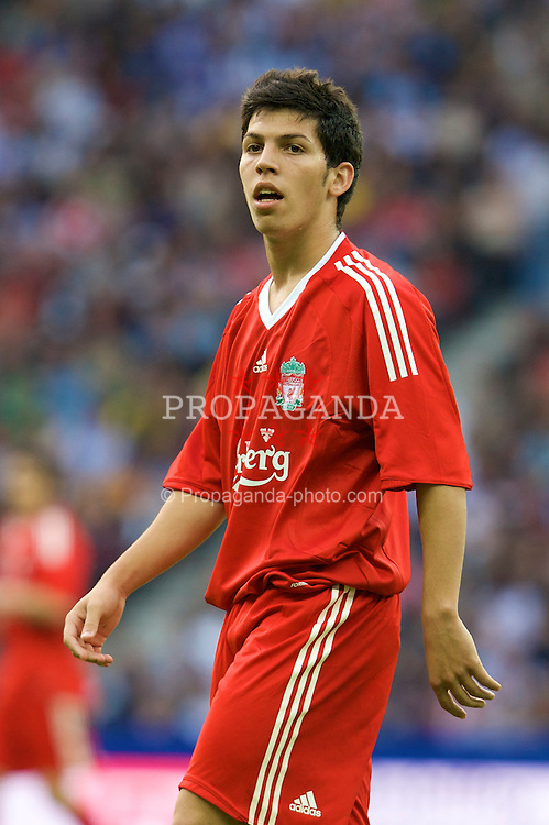 BERLIN, GERMANY - Tuesday, July 22, 2008: Liverpool's Daniel Pacheco in action against Hertha BSC Berlin during a pre-season friendly match at the Olympiastadion. (Photo by David Rawcliffe/Propaganda)