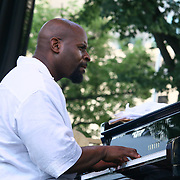 The Brownie Roach Project pianist Sharp Radway performs in front of a large crowd at the 26th annual duPont Clifford Brown Jazz Festival Wednesday, June 18, 2014, at Rodney Square Park in Wilmington, DEL.    <br /> <br /> &ldquo;The Clifford Brown Jazz Festival is a staple of Wilmington&rsquo;s performing arts culture,&rdquo; said Mayor Dennis P. Williams. &ldquo;The City is excited to celebrate the 26th anniversary and I hope the community gets involved and enjoys all of the many activities the festival has to offer.&rdquo;