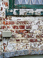 Old brick wall and paint.