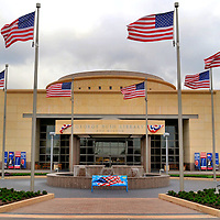 George H.W. Bush Presidential Library and Museum in College Station, Texas <br /> The George Bush Presidential Library and Museum is located on 90 acres at the Texas A&amp;M University&rsquo;s west campus in College Station, Texas. The museum contains 120,000 artifacts of the 41st President&rsquo;s life. The exhibits start with a 1952 home movie of his first steps in Kennebunkport, Maine. You will then learn about his career as a Congressman, U.N. Ambassador and CIA Director. Interesting reproductions include his Oval Office, Camp David office and the White House Press Room.