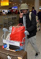 DEC 10 2014 Im A Celebrity Celebrities arriving in UK