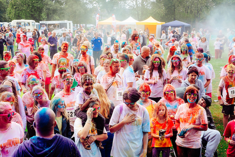 Kingston Upon Hull, East Yorkshire, United Kingdom, 14 September, 2014. Dove House Colour Run