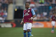 Nathan Delfolineso of Aston Villa during a match between Aston Villa FC and Philadelphia Union at PPL Park in Chester, Pennsylvania, USA on Wednesday July 18, 2012. (photo - Mat Boyle)