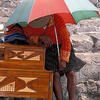 selling goods at the market, Chichicastenango, Guatemala, Central America