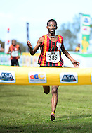 GEORGE, SOUTH AFRICA - SEPTEMBER 10: Ikangeng Gaorekwe of Central Gauging Athletics (CGA) wins the junior men 8km during the  2016 South African Cross Country Championships held at The Olympia School of Skills in Pacaltsdorp on September 10, 2016 in George, South Africa. (Photo by Roger Sedres/Gallo Images)