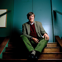 UK, London. Stephen Fry, actor and writer photographed at The Groucho Club in Soho..Photo©Steve Forrest