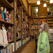 young girl enjoying the puppet collection