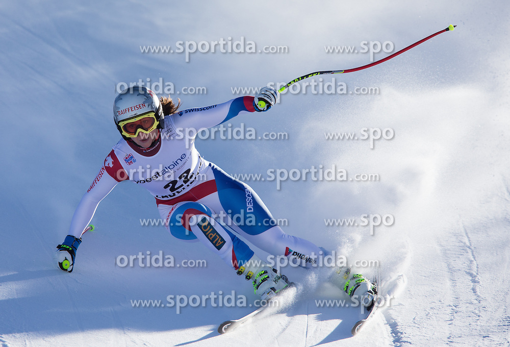 11.01.2014, Kalberloch, Zauchensee, AUT, FIS Ski Weltcup, Abfahrt, Damen, Bewerb, im Bild M. Kaufmann Abderhalden (SUI) // M. Kaufmann Abderhalden of Switzerland in action during ladies downhill of the Altenmarkt Zauchnesee FIS Ski Alpine World Cup at the Kaelberloch course in Zauchensee, Austria on 2014/01/11. EXPA Pictures © 2014, PhotoCredit: EXPA/ Johann Groder