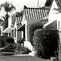 Row of Craftsman bungalow houses in North Park neighborhood, San Diego, CA