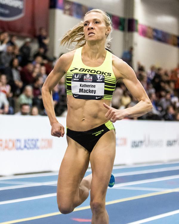 USATF Indoor Track & Field Championships: womens Mile, Katie Mackey, Brooks