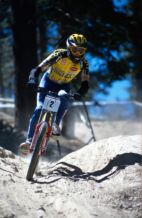 Grundig world cup downhill,Big Bear ,CA. 1998