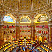 USA, Washington, D.C. The main reading room of the Library of Congress.
