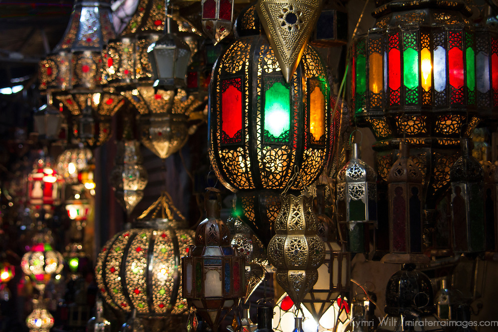 Africa, Morocco, Marrakech. Moroccan lights.