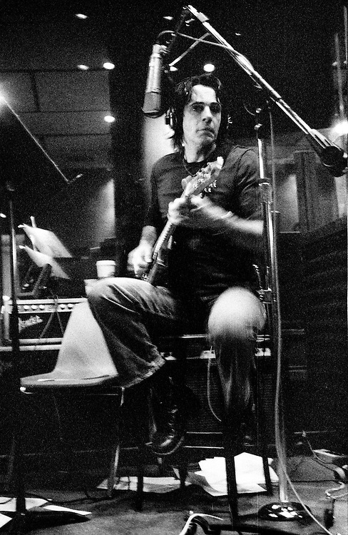 Rick Springfield recording for XM Satellite Radio, NOLA Studios, New York City