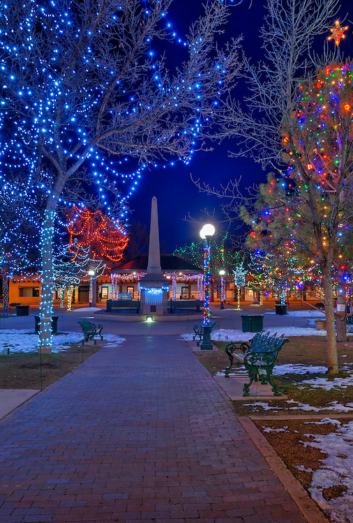 The Plaza, Santa Fe, New Mexico, USA.