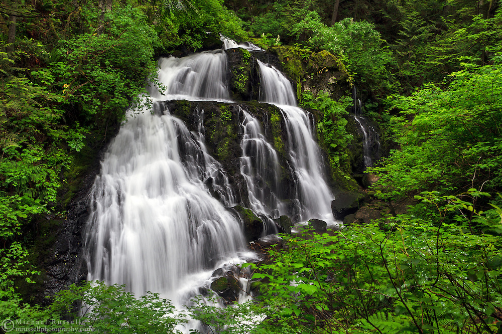 Steelhead Falls from along the Hayward Reservoir Trail in Mission, British Columbia, Canada