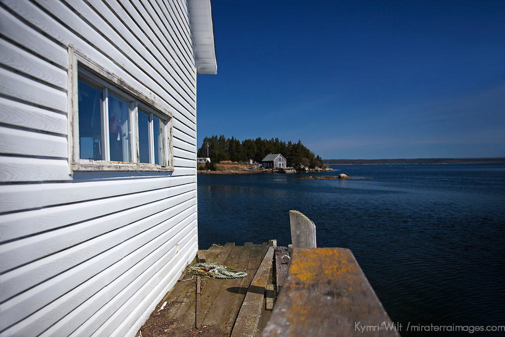 North America, Canada, Nova Scotia, Guysborough County. Little Harbour dock of Nova Scotia, near Tor Bay.
