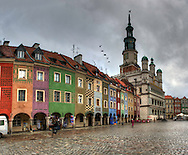 Colorful buildings at the Poznan main square