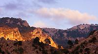 Sunset over Cazorla National Park, Jaen Province, Spain