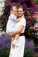 14-7-2016 BORGHOLM SWEDEN Solliden - King Carl-Gustav , queen Silvia , crown princess victoria , prince Daniel and  prince Oscar princess Estelle at the 39 the birthday celebration of crown princess Victoria victoriaday at Solliden palace. COPYRIGHT ROBIN UTRECHT  -