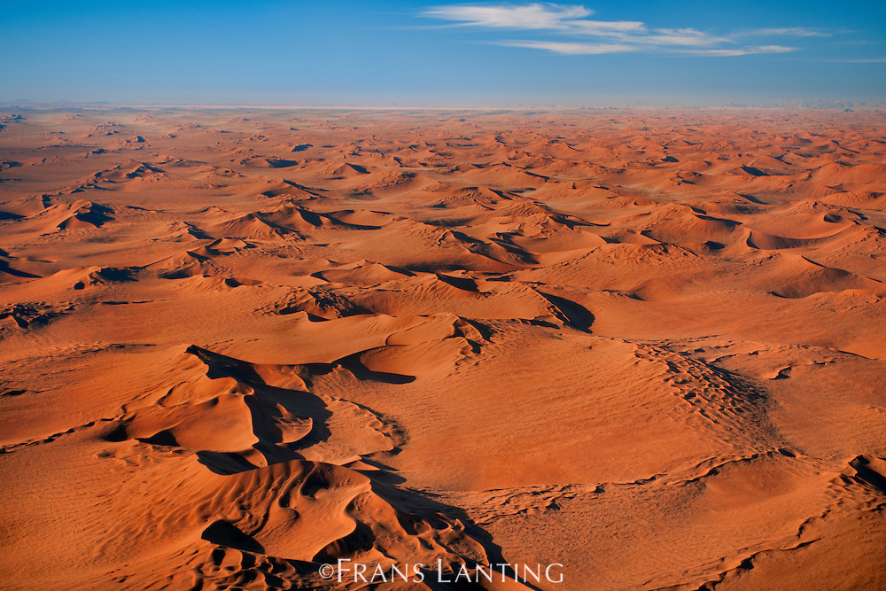 Namib sand sea (aerial), Namib-Naukluft National Park, Namibia