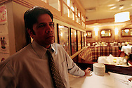 PHOTO PETER PEREIRA/4SEE<br /> <br /> Shamscel Alahter talks about the evening of September 11, 2001.  Flanagan's was the only bar to stay open the day of the attacks.  New Yorkers deal with the 10th anniversary of September 11, 2001 in different ways.