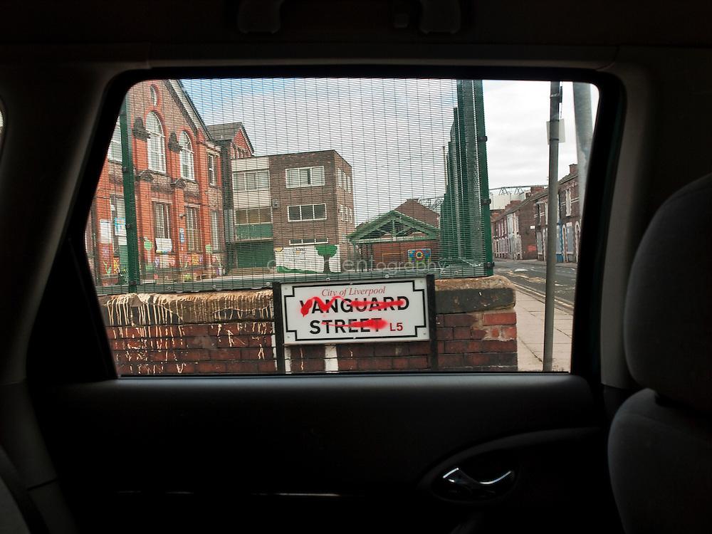 Anfield near Liverpool FC stadium...OLYMPUS DIGITAL CAMERA