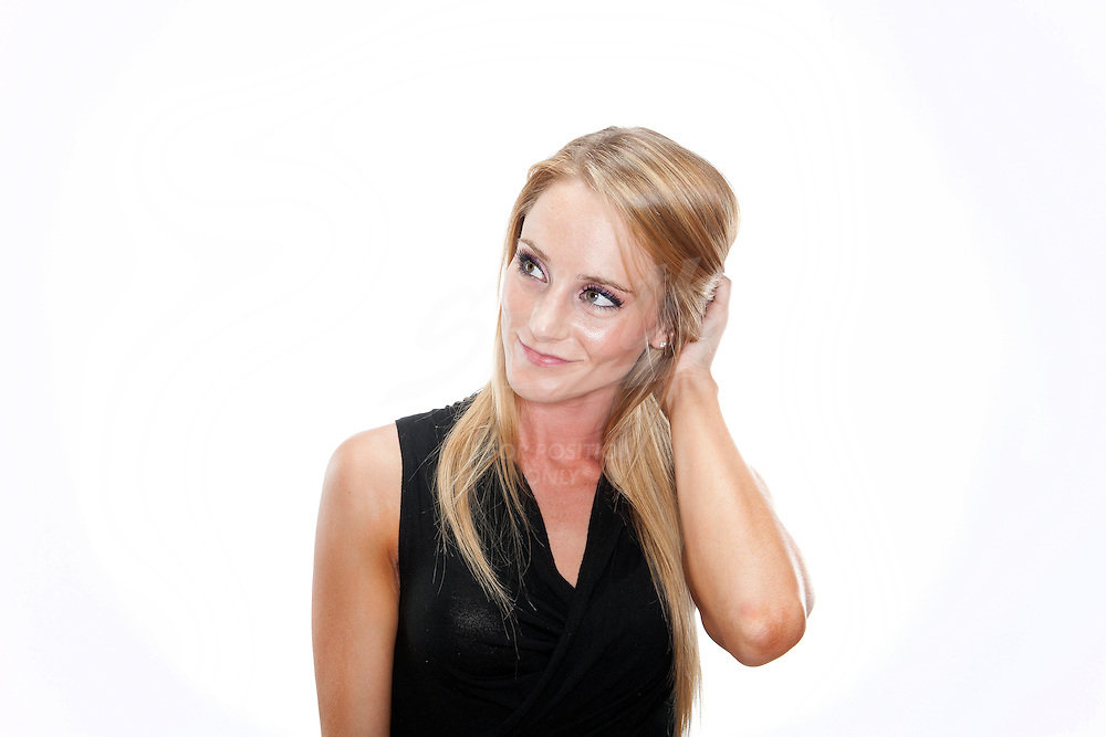 Portraits of Sarah Jade Robbins, NFL cheerleader for the Houston Texans.