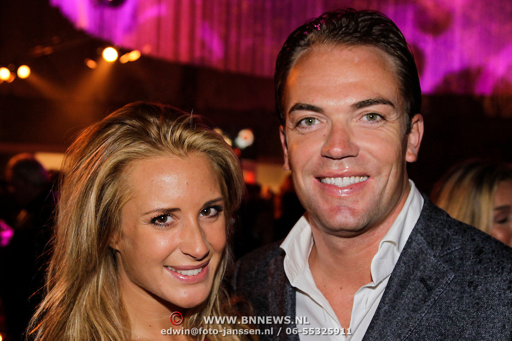 NLD/Amsterdam/20121013- LAF Fair 2012 VIP Night, chantal Bles en partner Robert Doornbos