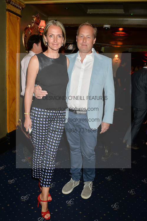 IAN & SAFFRON WACE at The Hoping Foundation's 'Starry Starry Night' Benefit Evening For Palestinian Refugee Children held at The Cafe de Paris, Coventry Street, London on 19th June 2014.