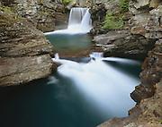 AA02165-02...MONTANA - Saint Mary Falls in Glacier National Park.