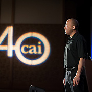 Terry Watson speaks to the Community Associations Institute (CAI) 40th anniversary conference at the San Diego Hilton Bayfront. Photography by Dallas event photographer William Morton of Morton Visuals event photography.