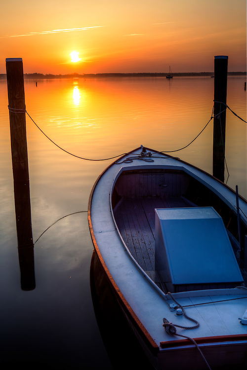 Sunrise at the St Michaels dock on the eastern shore of Maryland