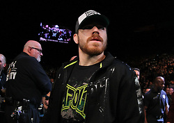 Las Vegas, NV - December 29, 2012: Jim Miller walks to the octagon for his bout against Joe Lauzon at UFC 155 at MGM Grand Garden Arena in Las Vegas, Nevada.