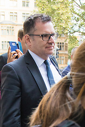London, September 22nd 2016.  John Scouler, the former commercial director for food, charged with one count of fraud by abuse of position and one count of false accounting, arrives at Westminster Magistrates Court, following the 2014 &pound;263m-plus accounting scandal at the supermarket chain. &copy;Paul Davey<br /> FOR LICENCING CONTACT: Paul Davey +44 (0) 7966 016 296 paul@pauldaveycreative.co.uk