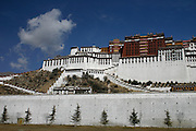 The Potala palace in Lhasa Tibet, former home of the Dalai Lama.