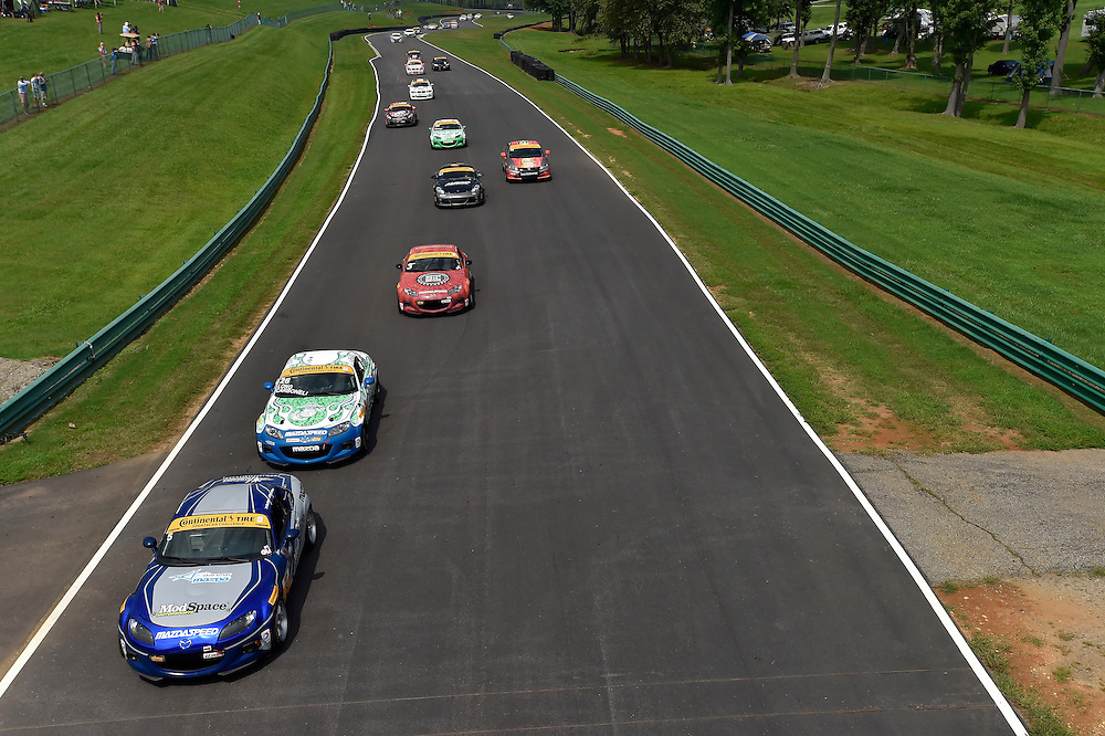 22-23 August 2014, Alton, Virginia USA<br /> Start. 5, Mazda, MX-5, ST, Stevan McAleer, Chad McCumbee, 26, Mazda, MX-5, ST, Tom Long, Andrew Carbonell<br /> &copy;2014, Scott R LePage <br /> LAT Photo USA