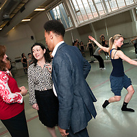 DanceVote 2010 is the national advocacy campaign of a collection of Dance and Arts organizations that has come together to put dance on the agenda of the UK's future MPs. In the run up to the general election, they are looking for assurances from the main political parties that they will support the dance sector. Photo shows members of the Steering Committee of DanceVote, at the London Contemporary Dance School. Left to Right: Louise de Winter (Director, National Campaign for The Arts), Caroline Miller (Director of Dance UK) and Kenneth Tharp (CEO, The Place)