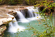 USA, West Virginia, Canaan Valley. A small waterfall on the North Fork of the Blackwater River.