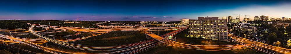 Tysons Corner , Mclean Virginia and 495 at sunset