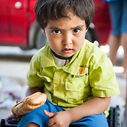 Zaahra 2 ½ years old from Chardere district of Afghanistan in Moria camp, Lesvos, Greece