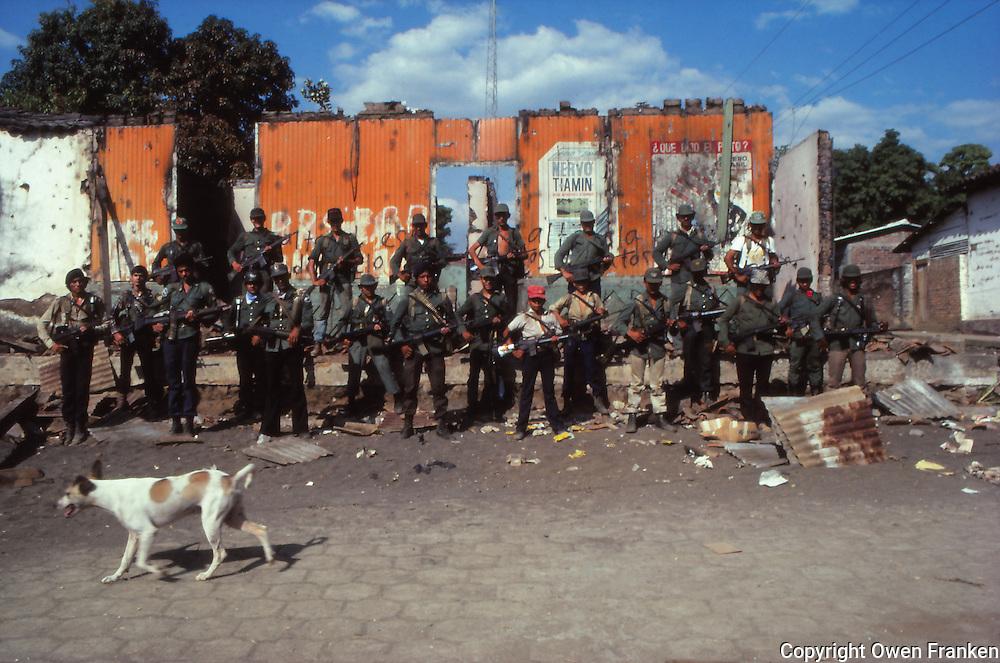 El Salvador guerillas,group portraint after taking a town