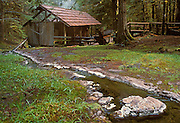Bagby Hot Springs hot tub building and spring; Mount Hood National Forest, Oregon.