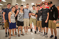 """Rugby team from Coquitlam, B.C. at Target store in Wallnut Creek, CA  """"We're shopping for our Moms"""""""
