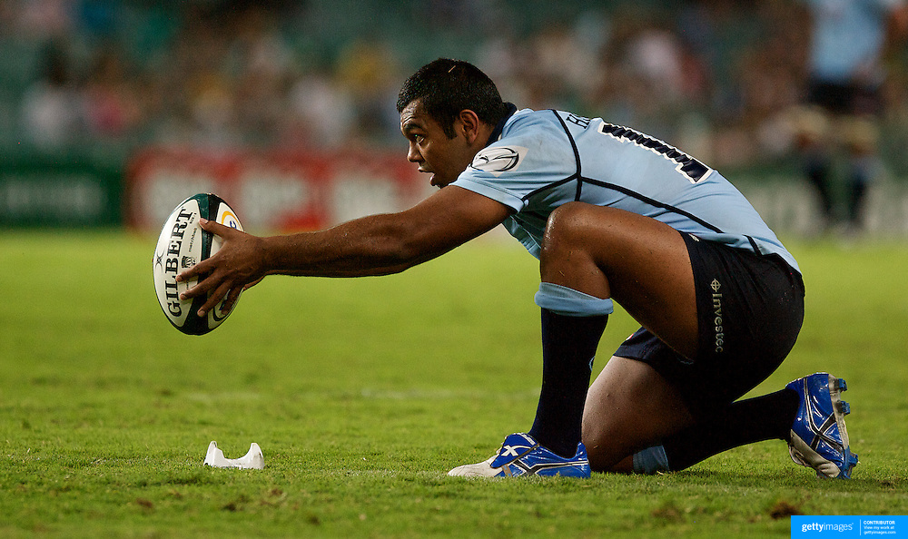Kurtley Beale in action during the Super14 match between the Waratahs and the Chiefs at the Sydney Football Stadium in Sydney, Australia on February 20, 2009. The Waratahs won the match 11-7. PPhoto Tim Clayton