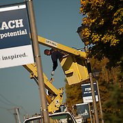 Signs are refreshed across campus. (Photo by Gonzaga University)