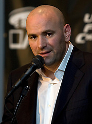 Mar 3, 2007; Columbus, OH, USA;  UFC President Dana White speaks after UFC 68 at the Nationwide Arena in Columbus, OH.