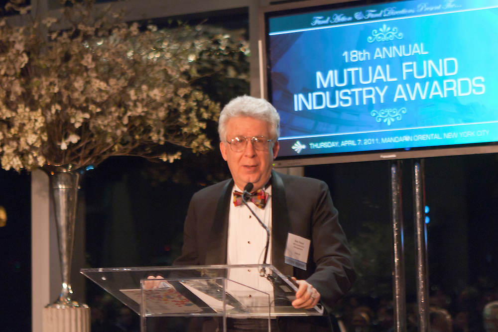 Institutional Investor's 18th Annual Mutual Fund Industry Awards recogized leaders at an  awards dinner held April 7, 2011.  Photographed by New York event photographer, Jeffrey Holmes Photography.