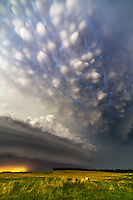 A supercell with mammatus clouds near Burwell, Nebraska, June 16, 2014.  This was shot on Highway 91 east of Spalding.